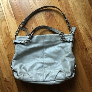 Coach perforated leather Brooke bag